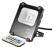 Водонепроницаемый RGB LED прожектор 10 Вт AC85-265V отражатель светодиодный прожектор IP54 наружное освещение с пультом дистанционного управления LLFA
