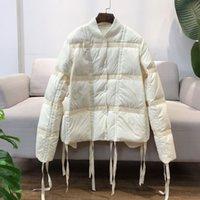Janveny ultra léger veste vers le bas Femmes 90% duvet de canard blanc manteau court Casual Drawstring Femme Parka Vestes légères Puffer