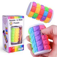3D puzzle cubo puzzle torre torre cilindro magico cubi rotazione puzzle sliding puzzle cerebrale teaser giochi cerebrali per adulti educativi giocattoli creativi per bambini