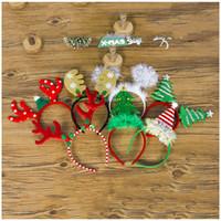 Asador de Navidad Cintas de nieve Copo de nieve Hebilla Hebilla para adultos Árbol de Navidad Headwear Decoraciones de fiesta de Año Nuevo para el hogar