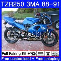 바디 용 YAMAHA TZR250RR RS RR YPVS TZR250 88 89 90 91 244HM.13 TZR-250 TZR250 3MA TZR 250 1988 1989 1990 1991 페어링 키트 전체 광택 블루
