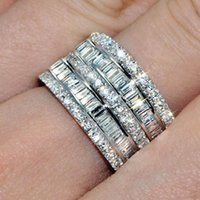 Нежный блестящий полный циркония дамы обручальные кольца мода роскошные обручальные кольца для женщин обещают ювелирные изделия подарки Bague Femme