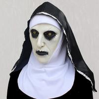 Halloween La Religieuse Horreur Masque Cosplay Valak Masques en latex Effrayant Casque intégral Démon Halloween Party Costume Props YD0408