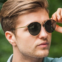 Blaze óculos de sol mulheres homens designers redondo óculos de metal moldura de ouro ouro marca sol vidros 3574 com caso