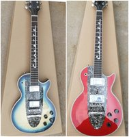 There are two default guitar colors: red and blue. You can c...