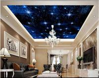 Maßgeschneiderte große sternenhimmel fototapete 3d decke wandbilder wallpaper sternenhimmel himmel zenith decke mural papel de parede