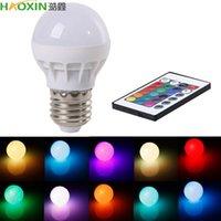Haoxin 3W E27 LED Lâmpada LED RGB com Controle Remoto de IR Lâmpada Pop Cor Alterando AC 85-265V 16 Cores Alterando Bulbos LED