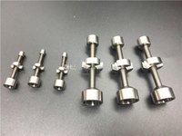 Double il 9 mm 14 mm 18 mm réglable Domeless titane grade 2 ongles Convient joints féminins pour bangs en verre Hookah tuyau d'eau en verre
