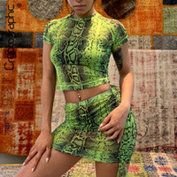 Cryptographic Animal Snake Print Sexy Two Piece Set Women To...