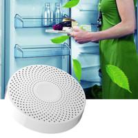Nuovo mini frigorifero purificatore deodorante sterilizzazione ozono Rimuovere odore purificatore d'aria Cleaner 500mah batteria bianco nero