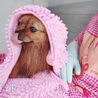 애완 동물 개 수건 빠른 건조 마이크로 화이버 셔닐 실 Puggy 고양이 목욕 수건 애완 동물 청소 슈퍼 흡수성 솔리드 컬러 22HG E1