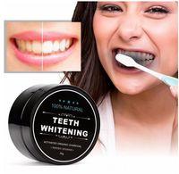 Blanchiment des dents Poudre Nature Bambou Charbon actif Sourire poudre Décontamination dent jaune Stain bambou Dentifrice soins bucco-dentaires