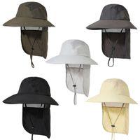 Лето Унисекс езда Велоспорт Защита ВС Hat UV защиты лицо шея лоскут ВС Cap Face Man Cap Hat Работа Повседневные Шляпы