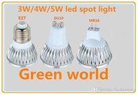 3W / 4W / 5W LED 스포트 라이트 E27 / GU10 / GU5.3 / MR16 (DC12V) 헤드 실내 5pcs / 가방을위한 고품질 DC12V / AC85-265V 스포트 라이트 무료 배송