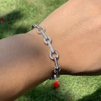 2019 nueva llegada venta caliente moda joyería real 925 plata esterlina blanco claro 5a cúbica circonia afortunada cadena brazalete para el dia de la madre regalo