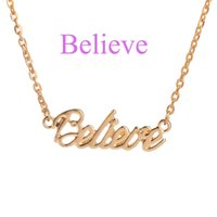 BelIeve Customized Fashion Stainless Steel Name Necklace Per...