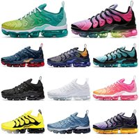 TN Plus Geometric Active Fuchsia Black Hombres Mujeres Zapatos para correr maxes Grid Print Lemon Lime Bumblebee Game Royal Trainers Zapatillas deportivas