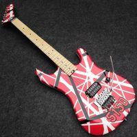 Actualizado Kramer Gang, Edward Van Halen puente 5150 de la raya blanca roja de la guitarra eléctrica real trémolo de Floyd Rose Especial, Tuerca, Whammy Bar