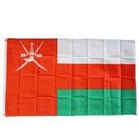 Oman Flag 3x5FT 150x90cm stampa del poliestere coperta appeso all'aperto di vendita caldo di bandiera nazionale con ottone Occhiello Shippin