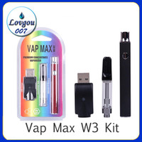 Vap Max W3 Kit 350mAh Vertex VV-Batterie mit variabler Spannung 0,5 / 1,0 ml vorheizen 510 Glass Cartridge Tanks