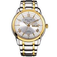 HOLUNS 2020 del relogio masculino completos los hombres de acero inoxidable reloj automático de la parte superior resistente al agua 5 ATM de lujo dropshipping luminosa Súper