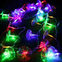 2.5M 10 LED alimentato a batteria Morning Glory Fibra ottica LED String Fairy Light Party Casa vacanze matrimonio compleanno Natale Decorazione natalizia