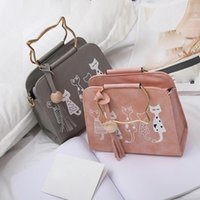 Messenger Bag Women Handbags Funny Cat Pattern Shoulder Bag ...