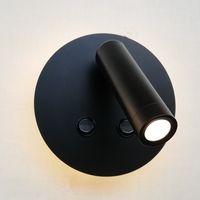 Топоч-кровать Стены Sconce Dual Коммутационная лампа Светодиодная подсветка 6W с регулируемым светом для чтения 3W фокусируя объектив для коридора проходной кроватью 100-240 В