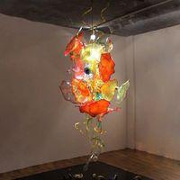 Lampade a sospensione macchiate Lampadri illuminazione Fantasia appesa a mano tradizionale in vetro soffiato lampadario ITALIA fiore design in cristallo ciondolo