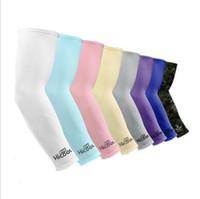 Maniche Unisex Sport blocchetto di Sun anti protezione UV di guida del braccio del manicotto di raffreddamento manica Covers sport all'aria aperta in bicicletta maniche braccio hicool