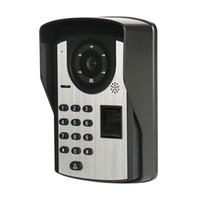 7-Zoll-Fingerabdruck-Passwort-Fernbedienung entsperren Video-Türklingel Nachtsicht wasserdicht elektronische Farbe visuelle Gegensprechanlage intelligente Türklingel