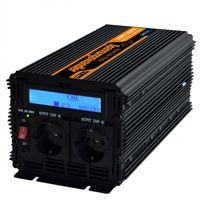 Freeshipping Onda Senoidal Pura DC 12 V PARA AC 230 V Inversor com Controle Remoto e DISPLAY LCD de Alta freqüência do inversor de energia 1500 w / 3000 w pico