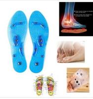 Silikon-Einlegesohlen Magnetfeldtherapie Transparent Massage Fuß-Gewicht-Verlust-Einlegesohlen Gesundheitswesen Schuhe Pad Sole Großhandelsdropshipping