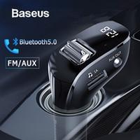 شاحن Baseus سيارة AUX محول بلوتوث حر اليدين عدة السيارة السيارات مشغل MP3 بلوتوث استقبال مع المزدوجة USB FM الارسال
