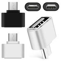 Adaptateur de micro Type C Convertisseur USB OTG Adaptateurs pour Samsung Android Téléphone Clavier PC Caméra Blanc Blanc Blanc