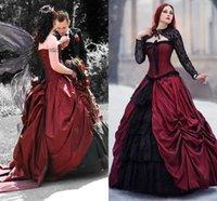 長袖ジャケット2020ビンテージレースアップコルセットトップ中世の吸血鬼の花嫁のドレスローブ