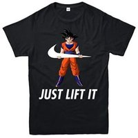 Goku Just Lift It T- Shirt Bodybuilding Gym Dragon Ball Z Adu...