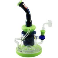 Hohe Recycler Glas Bongs Percolator Wasserrohre 14mm männlich weiblich Joint Oil Dab Rigs Glasrohr mit Quarz Banger oder Glasschüssel