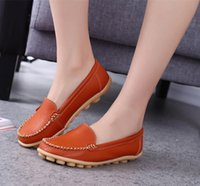 Spring and Summer Mom Shoes Middle- aged Flat Heel Shoes Whit...