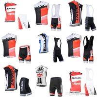 Riesiges Team Radfahren Sleeveless Jersey Weste (Lätzchen) Shorts Sets 2018 Radfahren Kleidung Herrenanzug Fahrradkleidung Atmungsaktiv UV-Schutz C210