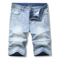Jeans pour hommes hommes jean haute rue short denim pantalon pantalon trou lavé mode occasionnel hip hop masculin