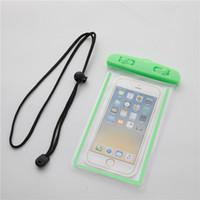 Evrensel PVC Su geçirmez Telefon Kılıfı Çanta iPhone X Samsung S10 Cep Telefonu Su geçirmez Kuru Çanta Yukarı 6.5 İnç ile Bileklikli için