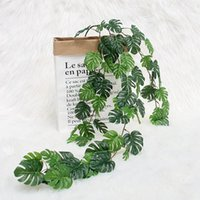 AsyPets Monstera Leaf Plant Rattan Wreath String for Indoor ...