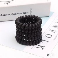 Women Frosted Coil Hair Ties Large Hairbands Elastic Hair Rope Rubber Ring Ponytail Holder For Girls Thick Hair Accessories HN457