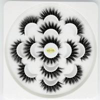 최신 7 쌍 3D 속눈썹 수제 천연 긴 가짜 밍크 속눈썹 여성 메이크업 거짓 속눈썹 확장 Maquiagem 도구