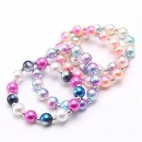 bambino di modo elastico della perla bracciali bambini fatti a mano ragazze perline colorate braceles braccialetti per il regalo bambini gioielli