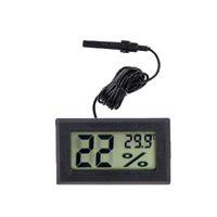 Mini Digital Electronic LCD Thermometer Sensor Hygrometer Gauge Refrigerator Aquarium Monitoring Display Humidity Detector Temperature Meter