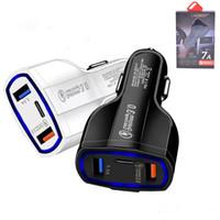 Caricabatteria da auto QC3.0 Dual USB 2 Porta caricatore doppio USB Universal Plug Adapter ricarica Tipo C caricabatterie rapido con Package