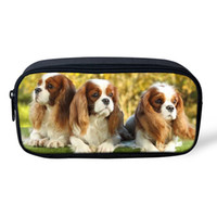 THIKIN Student School Pencil Bag Funny King Charles Spaniel ...