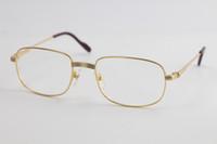 Высококачественные золотые оптические очки мужские большие квадратные очки для глаз Женщины Дизайн классические модельные очки с коробкой